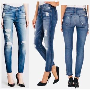 7 for All Mankind Distressed Skinny Jean NWOT 🌟32